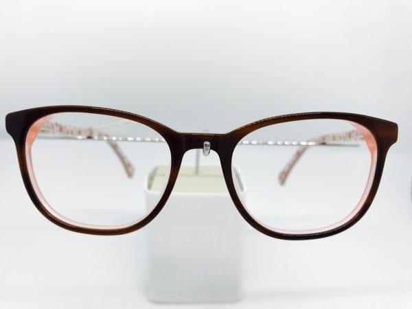 Elegant brown Ted Baker frames with pink detail   RetroSpecced